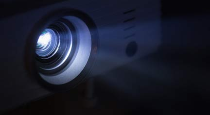 custom projector lens with light